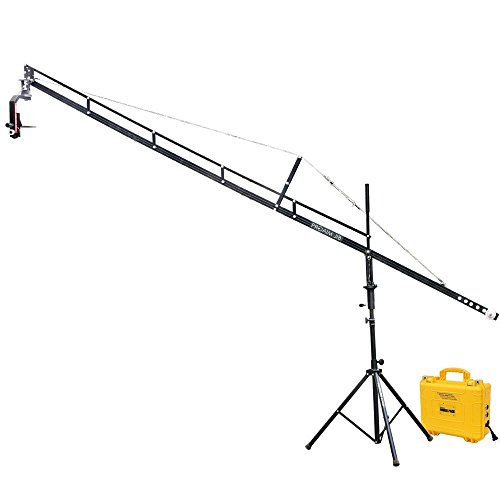 PROAIM 14ft Camera Crane Jib, Jr. Pan Tilt Head, Tripod Stand (P-14-JS-JRPP) for DSLR Video BMCC up to 8kg/17.6lbs with Carrying Bag by PROAIM