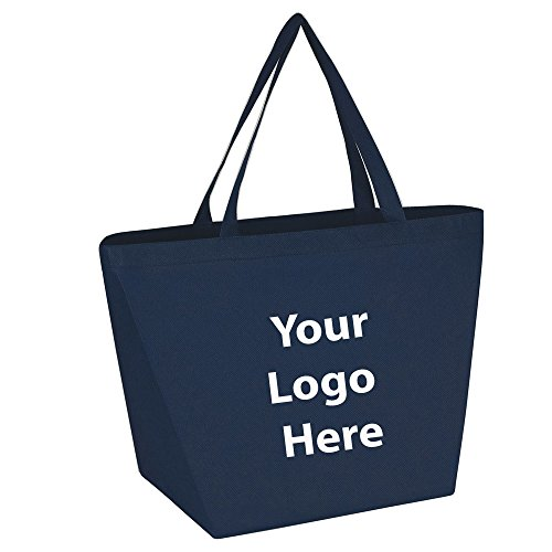 "Budget Shopper Tote Bag - 100 Quantity - $1.35 Each - Promotional Product/Bulk with Your Logo/Customized. Size: 20""W x 13""H x 8""D"