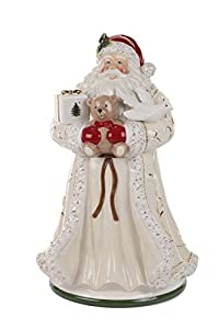 Amazon.com | Spode Christmas Tree Santa Cookie Jar, Large, Gold ...