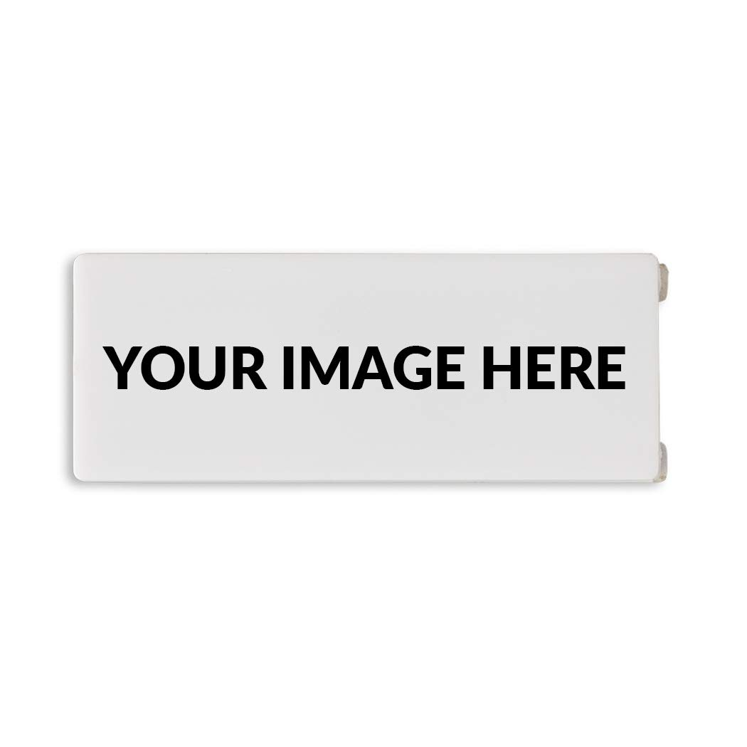 C-Slide Thin Customizable Sliding Webcam Cover, White | Customize with Your Logo |500-Pack | Great Promotional Item 1.5'' x 0.5'' 1mm Thick Bulk Promo Product