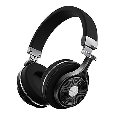 Bluedio T3 (Turbine 3rd) Extra Bass Wireless Bluetooth 4.1 Stereo Headphones (Black) (As It Is Volume 2)