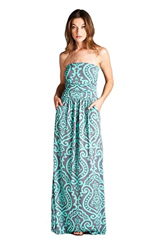 Vanilla Bay Baroque Maxi Dress