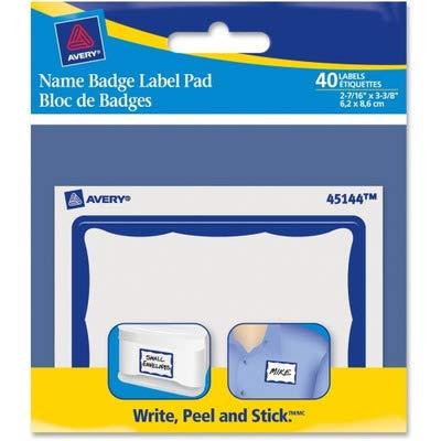 AVE45144 - Averyreg Name Badge Label Pads