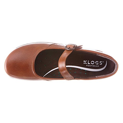 Klogs Womens Charleston Clog Fibbia In Pelle Noce Moscata Tintoretto