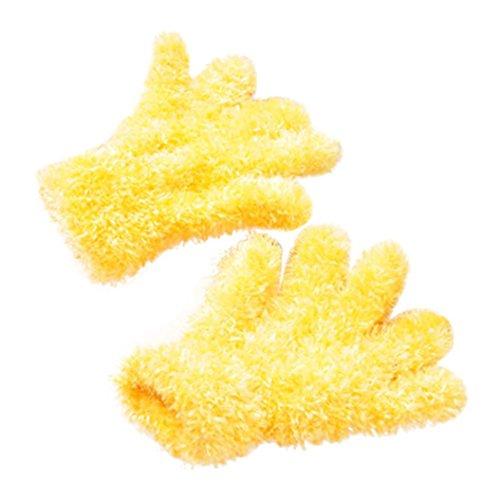 ChainSee Children Winter Magic Flannel Knit Thicken Full Finger Gripper Gloves (Knit Gripper Glove)