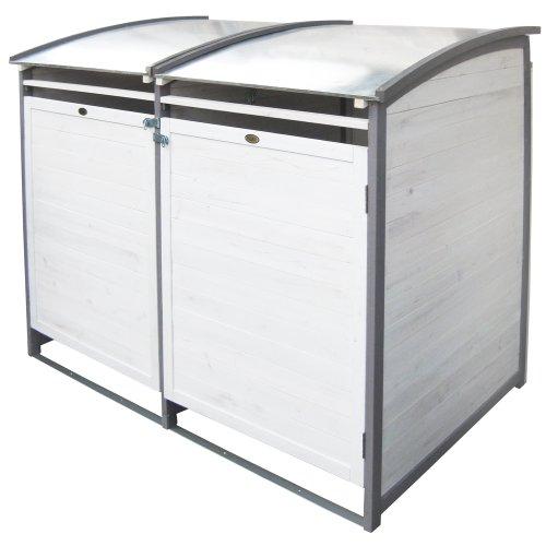 Habau 3140 Mülltonnenbox 120 Liter Doppel, 122 x 76 x 116 cm