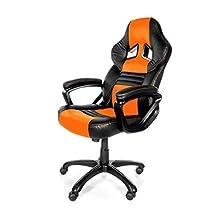 Arozzi Monza Series Gaming Racing Style Swivel Chair, Orange/Black