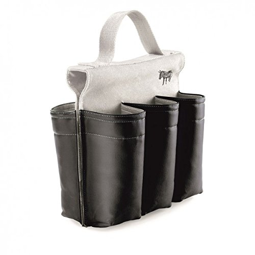 Six-slot Saddlebag Style Bike Bag, 6 Bottle Carrier with Handle, Black and White (Beer Holder For Bike compare prices)