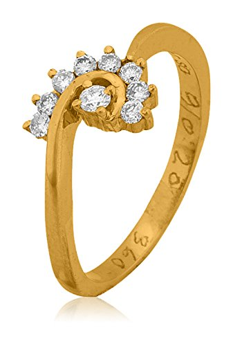Buy Senco Gold 18k Yellow Gold and Diamond Ring line at Low