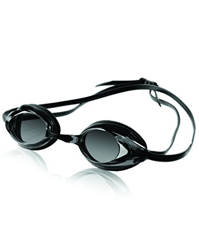 Speedo Vanquisher Optical Swim Goggle, Black/Smoke, Diopter -5.0