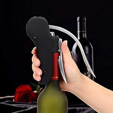 JSJJAUJ Sacacorchos Abridores de Botellas Convenientes Foil Cutter Bar Lever Sacacorchos Cork Perfor Lifter Kit Herramienta de Vino Conjunto Accesorios de Cocina