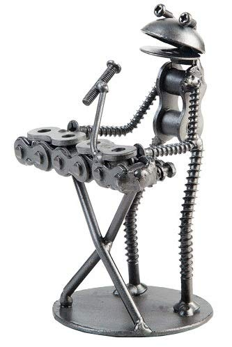 The Handcrafted Metal Frog Keyboard Player