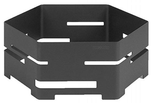 Hexagon Buffet - Rosseto SM135 18-Inch Steel Hexagon Buffet Riser, Large, Black Matte