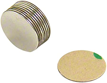 First4magnets SP095075SA-20 Paquet de 20 Aimants adh/ésif en N/éodyme N35// sud montrant 9,5 x 0,75 mm