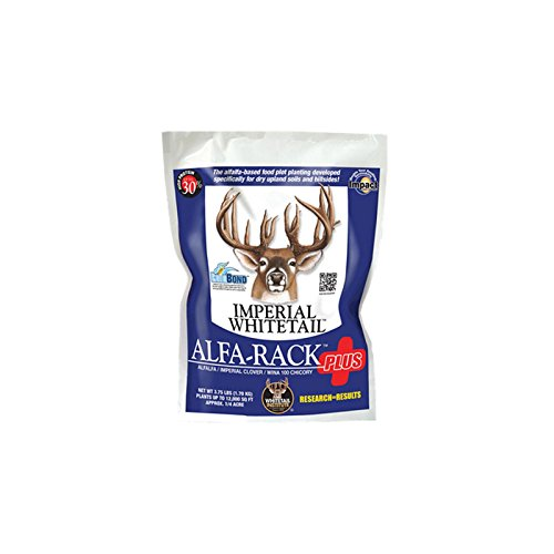 Whitetail Institute Imperial Alfa-Rack Plus Food Plot Seed (Spring and Fall Planting), 3.75-Pound (.25 Acres)