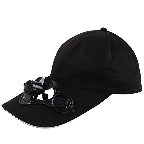 GOVOW-Tech Golf Hat Camping Hiking Peaked Cap with Solar Powered Fan Baseball Hat Cooling Fan Cap