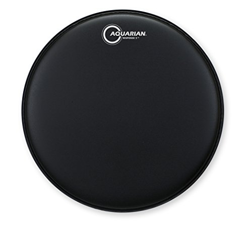 aquarian-drumheads-tcrsp2-15bk-response-2-black-coated-15-inch-tom-tom-drum-head