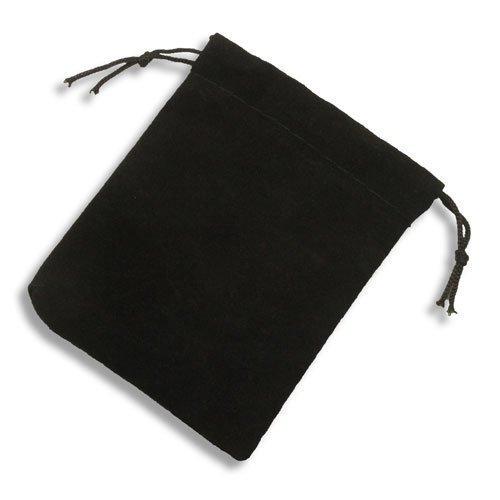 Bolsas Cordón Joyería Negra Terciopelo Pequeña 10 Suave ...