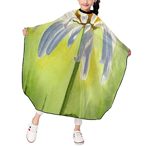 - Haircut Cape Daisy Oil Painting Personalized Hairdressing Apron Polyester Water Resistant Hair Cutting Cape for Kids