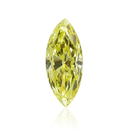 0.28 Carat Fancy Light Yellow Loose Diamond Natural Color Marquise Shape GIA (Marquise Loose Diamonds Vs2)