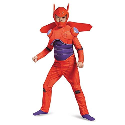 [Red Baymax Deluxe Costume, Medium (7-8)] (Baymax Big Hero 6 Costume)