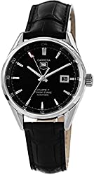 Tag Heuer Carrera Twin Time Black Dial Black Leather Mens Watch WAR2010FC6266