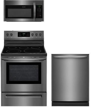 Frigidaire 3-Piece Black Stainless Steel Kitchen Package With FFEF3054TD 30
