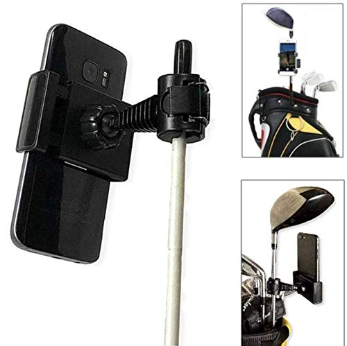 Golf Cell Phone Clip Holder and Training Aid to Record Your Swing | Attach Any Mobile Phone to Alignment Stick or Golf Bag
