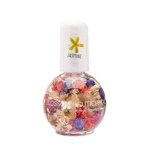 Blossom Scented Cuticle Oil (0.42 oz) infused with REAL flowers - made in USA (Jasmine)