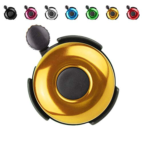 REKATA Bike Bells, Bicycle Bells for Girls Adults Toddlers, Ring Horn Accessories (Golden)
