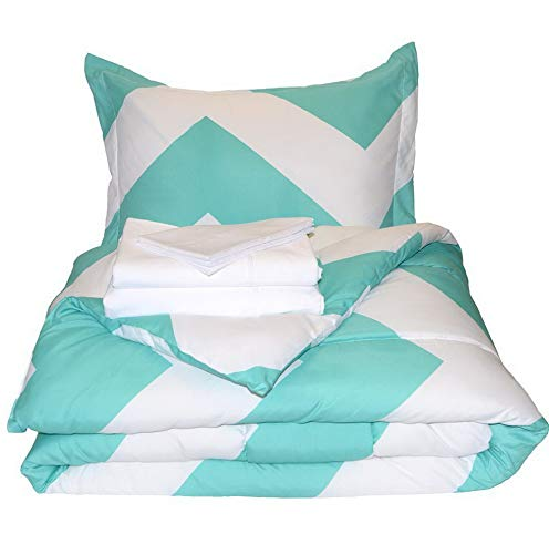 Hemau Bed-in-A-Bag 5 Piece Comforter & Sheet Set - Twin Extra Long Ultra-Soft 1800 Premium - Hypoallergenic - Bare Breathable Bedding (Twin XL, Lynx/White) | Style 503193357