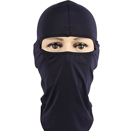 Rioriva Motorcycle Balaclava Winter Neck Warmer Ski Full Face Mask Cap Cover New (Lycra-navy),One Size,BF-10