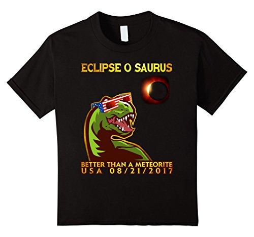 Price comparison product image Kids Eclipseoaurus Dinosaur  Total Solar Eclipse Tshirt 6 Black