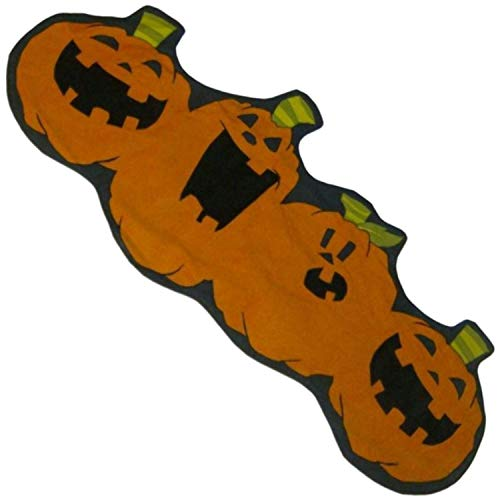 Boo & Co Halloween Pumpkin Patch Jack-O-Lantern Table Runner 15x37
