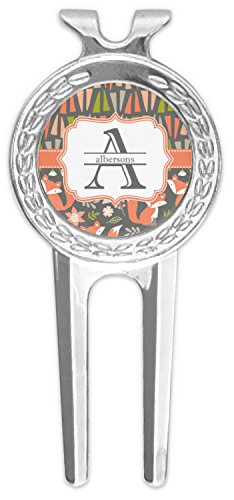 RNK Shops Fox Trail Floral Golf Divot Tool & Ball Marker (Personalized) by RNK Shops