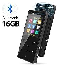 MP3プレーヤー Bluetooth4.2対応デジタルオーディオプレーヤー ウ...