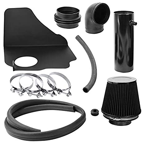 Carpartsinnovate For 06-10 Charger Challenger 5.7L 6.1L V8 Glossy Black Cold Air Intake+Shield+Filter