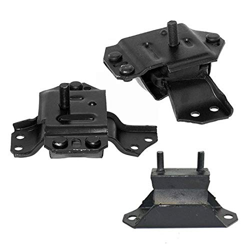 ONNURI For 1996-1998 Ford Mustang 3.8L Motor & Trans Mount Set : A2904, A2905, A2784 - - Engine Mount Mustang Ford