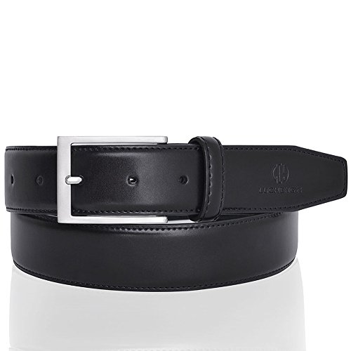 Leather Belt for Men Classic 35MM Wide Strap Black - Bridle 35 Mm