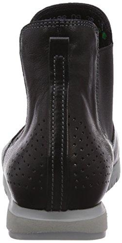 Think OIWAI - botines chelsea de cuero mujer negro - Schwarz (SZ/KOMBI 09)