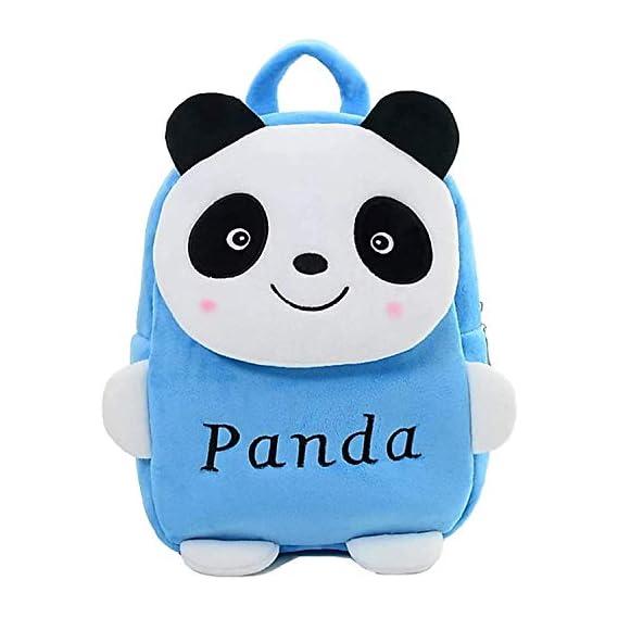 PRA-V School Bag for Kids/Girls/Boys/Children Plush Soft Bag Backpack Blue Panda Cartoon Bag Gift for Kids Cartoon Toy
