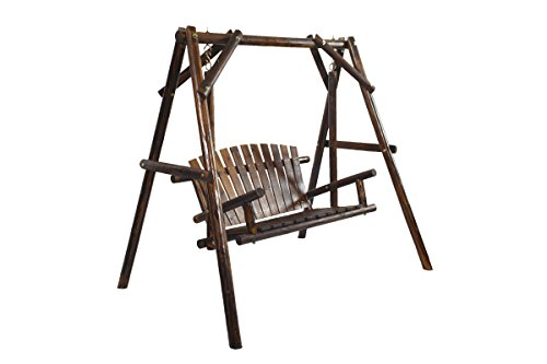 (American Furniture Classics Log Swing, Burnt)