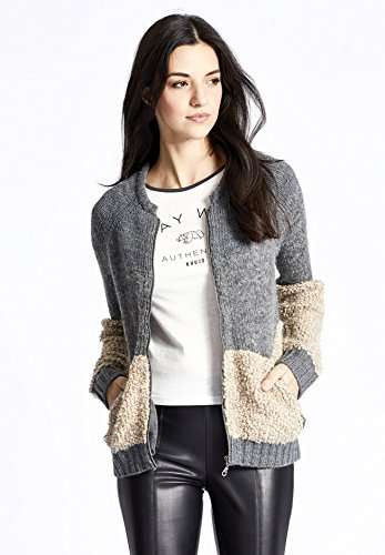 Gris Clair Manches Longues Femme Gilet khujo Small XSTAqpww