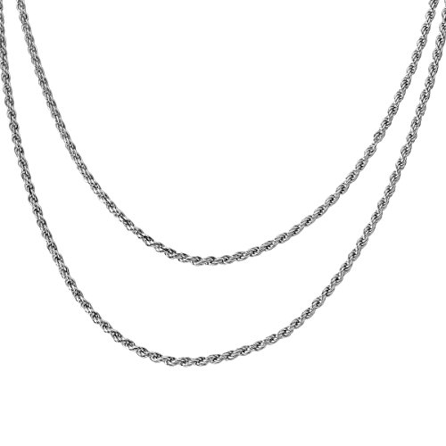 HOUSWEETY Sterling Silver Chain Necklace