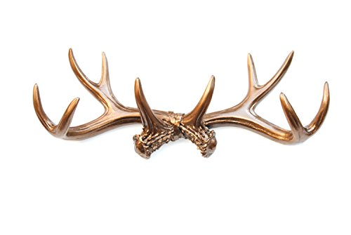 Near and Deer Faux Antler Rack Wall Hook & Jewelry Organizer, Bronze