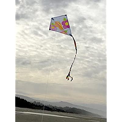 In the Breeze Coloring Diamond 20 Inch Kite - Single Line - Ripstop Fabric Kite - Includes Crayons, Kite Line and Bag - Creative Fun for Kids and Adults: Liberty Mountain Sports: Garden & Outdoor
