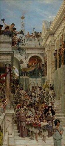 Oil Painting 'Spring,1894 By Lawrence Alma-Tadema', 8 x 18 inch / 20 x 45 cm , on High Definition HD canvas prints is for Gifts And Home Theater, Kids Room - Asia Nick Junior