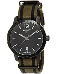 Men's T0954103705700 Analog Display Quartz Black Watch