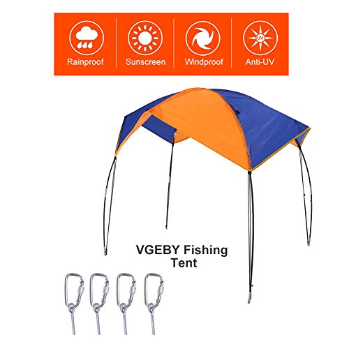 VGEBY1 Boat Shade Canopy, Multiple Persons Fishing Tent Boat Sun Awning Sailboat Canopy Accessory Tool(for 4 Persons)