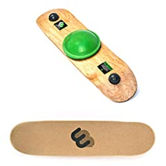 The Whirly Board provides an enjoyable way to benefit your abilities and exercise core muscles in your home or office. This board is guaranteed to challenge and improve ability for board riders of any skill level and is also a useful training...